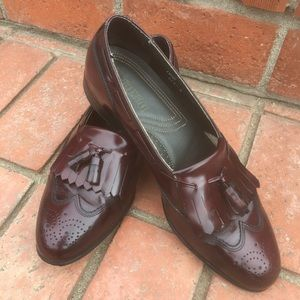 Dexter Leather Wing Tip Loafers Size 10.5